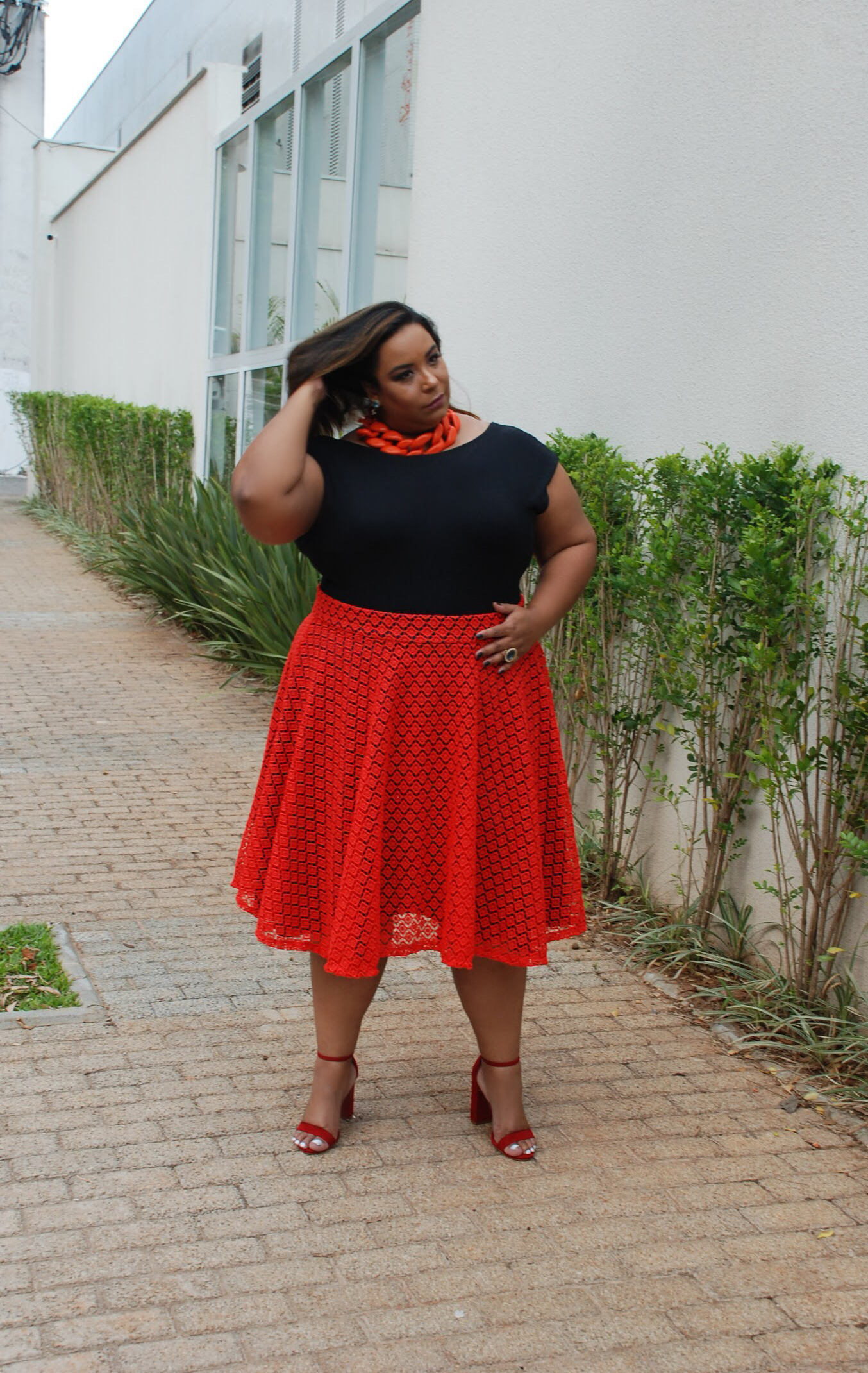 look de natal plus size