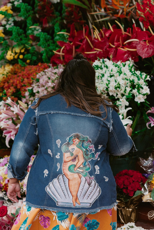 Dani Rudz - Pintura em Jeans Mari Rodrigues